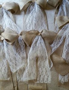 Handmade Burlap & Lace Bows