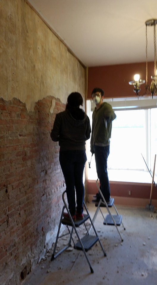 Wall chippers!  Still working hard at it.