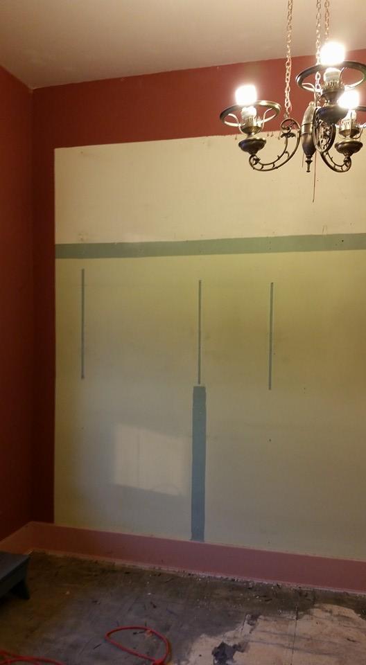 More slat board taken down.  Kind of dig the color scheme.