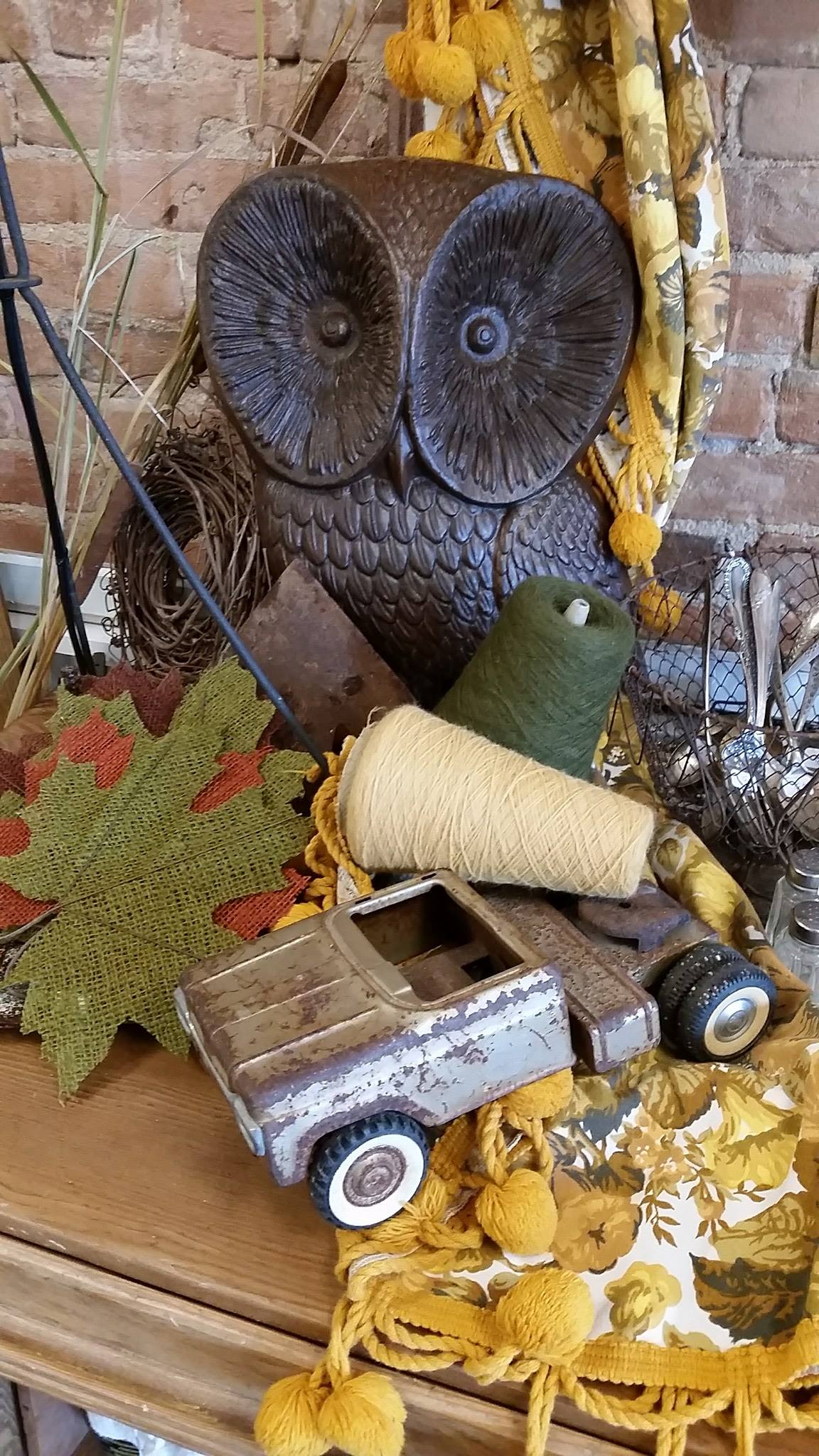 Who's anxious for Fall? Here's a little sneak peek! I'm ready to bring out all the fun stuff we have gathered.