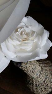 Large White Paper Flower